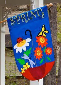 spring applique flag
