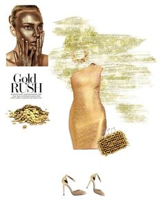 """Gold fever"" by stellina-from-the-italian-glam ❤ liked on Polyvore"