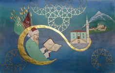 İsmail Hakkı Bursevi Minyatür Nazmi Kişioğlu Painting Lessons, Art Drawings, Miniatures, Calligraphy, Lettering, Calligraphy Art, Mockup, Minis, Art Paintings