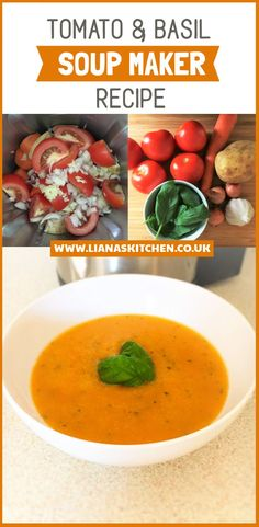 Tomato and Basil Soup Maker Recipe (Morphy Richards)
