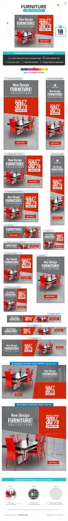 Furniture Banners - #Banners & Ads #Web Elements Download here: https://graphicriver.net/item/furniture-banners/20326470?ref=alena994