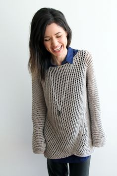 Diagonal Mesh Pullover by Lion Brand | Project | Knitting / Shirts, Tanks, & Tops | Kollabora