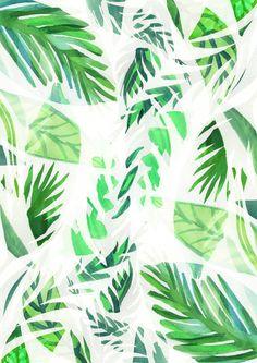 Leaf tropical pattern  Art Print #leaf #printdesign #tropical