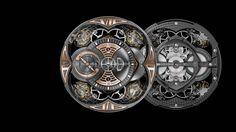 Roger Dubuis Excalibur Quatuor. 4 balance wheels connected through 3 differentials.