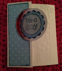 It's a Boy using Stampin' UP! Circle Thinlits Die
