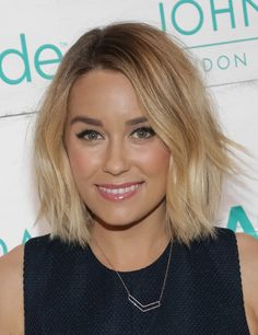 LC chopped her signature long tresses into a piecey, shoulder-grazing style.   - Redbook.com