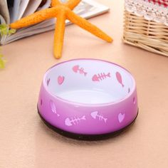 Tofern Quality Non-slip Fish Love Pattern Cute Acrylic Pet Cat Dog Bowl With Rubber Base -- You can find out more details at the link of the image. (This is an affiliate link and I receive a commission for the sales) #DogBowls