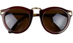 Brown Arrow Sunglasses from sarahaghili.com