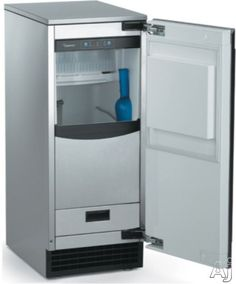 Scotsman 15 Inch Undercounter Ice Maker with 80 lbs. Ice Storage, Interior Light, Self-Closing Door and Built-in Drain Pump: Unfinished/Requires Custom Panel Nugget Ice Maker, Stainless Steel Cabinets, Drain Pump, Kitchen Trends, Kitchen Ideas, Kitchen Images, Outdoor Kitchen Design, Outdoor Kitchens, Interior Lighting