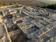 Mount Megiddo, Israel they have found 20 different cities on top of one another here after excavation