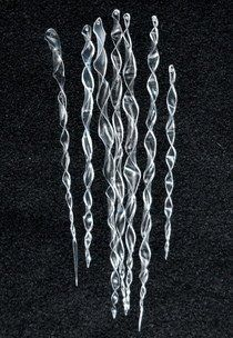 Icicle Ornaments From Plastic Bottles