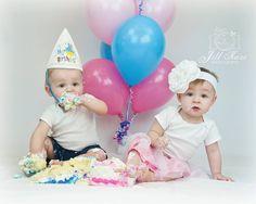 Birthday smash cake pictures. Twins <3 Babies Pics, Cake Pictures, Cake Smash, Twins, Eyes, Birthday, Baby, Decor, Horse