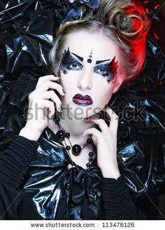 Great Gothic Princess Halloween Makeup 2012
