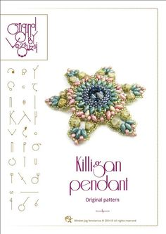 pendant tutorial / pattern Killigan por beadsbyvezsuzsi en Etsy