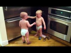Talking Twin Babies - PART 2 - OFFICIAL VIDEO - YouTube Funny Baby Gif, Funny Babies, It's Funny, Funny Stuff, Hilarious, Twin Baby Boys, Twin Babies, Baby Language, Baby Humor