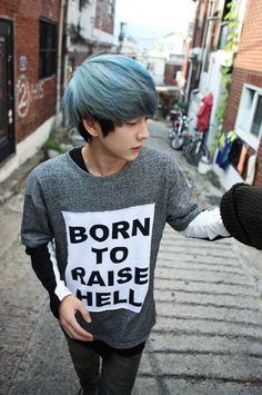 Grey/Blue hair