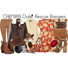 Chip and Dale+: Rescue Rangers by leslieakay Disney Fun, Disney Style, Disney Trips, Disney Cruise, Disney Bound Outfits, Cruise Outfits, Disney Bound Couples, Movie Outfits, Disney Dress Up