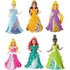 Disney Princess Little Kingdom MagiClip Princess Collection, 6-Pack