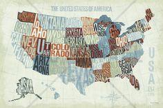 USA Modern Blue - Wall Mural & Photo Wallpaper - Photowall