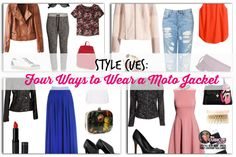 Style Cues: Four Ways to Wear a Moto Jacket #style #fashion