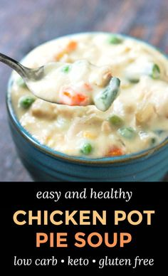 Low Carb Chicken Soup, Healthy Chicken Pot Pie, Baked Chicken Recipes, Chicken Pot Pie Soup Recipe Easy, Chicken Soups, Healthy Low Carb Recipes, Low Carb Keto, Keto Recipes, Cooking Recipes