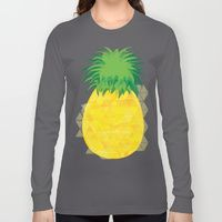 Long Sleeve T-shirt featuring Pineapple Crush by Megan Hillier