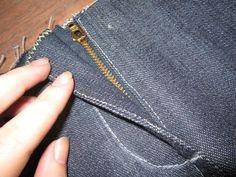Como costurar zíper comum em calça. Aula 71 - YouTube