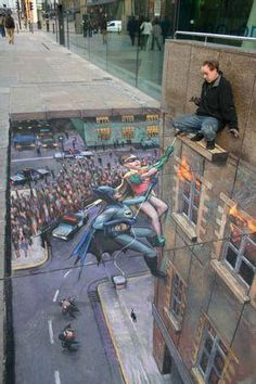 cool sidewalk art