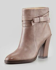 mannie bow ankle boot, taupe by kate spade new york at Neiman Marcus.