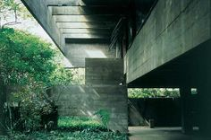 Inner building architecture  (Paulo Mendes da Rocha residence in Sao Paul, Brazil)