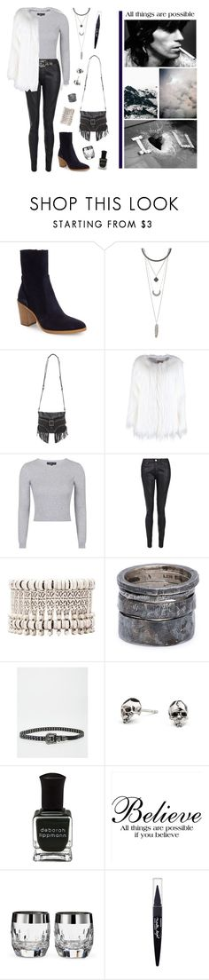 """She's my little rock'n'roll."" by vannyroxx ❤ liked on Polyvore featuring Topshop, Charlotte Russe, Ash, dVb Victoria Beckham, Natalie B, Lee Brennan Design, ASOS, Kasun, Deborah Lippmann and Waterford"
