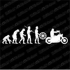 "Evolution of Motorcycle 1 Vinyl Decal 9x2 5"" Car Sticker Harley Davidson K342 | eBay"