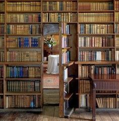 Looove the book door leading 'out' of this coveted room!