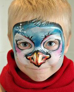 Tanya Maslova penguin face painting design