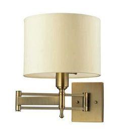 $190.  1STOPlighting.com | Pembroke - One Light Swing Arm Wall Mount
