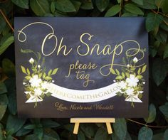 Oh Snap Instagram sign Instagram wedding sign Pink by TheFindSac