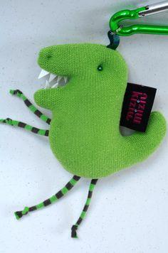 brelok DINOZAUR, mały zielony smok na prezent - kiziu-miziu - Breloczki