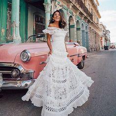 Wish - Acheter en s'amusant Lace Maxi, White Maxi Dresses, White Dress, Summer Dresses, Evening Dresses, Womens Swing Dress, Robe Swing, Bridal Gowns, Wedding Dresses