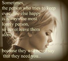 I never tell