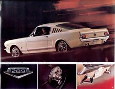 Wimbledon White 1965 Mustang GT Fastback Promotional Sales Brochure