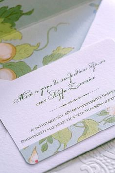 #Floral_Wedding_Stationery: Envelope, wedding invite and reception card with a fresh spring feeling. See more here http://www.love4wed.com/floral-invites-atelier-invitations/