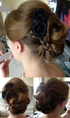 Kate Middleton inspired braided bun - Wedding guest hair
