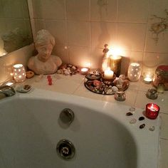 Bathroom altar--every home I've ever had has bathroom kitchen main room and bedroom altars or shrines--my space is sacred space.it's beautiful Feng Shui, Wiccan, Witchcraft, Magick, Meditation Space, Decoration Design, Book Of Shadows, Buddha, Creative