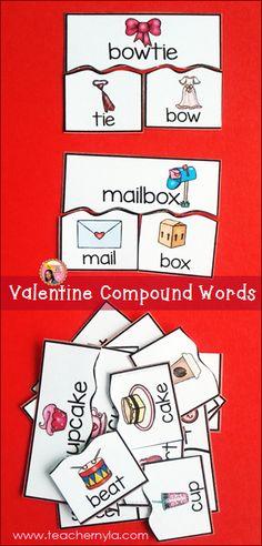 Valentine's Day Compound Word Activity $