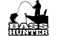 Bass Hunter Vinyl Decal for car, truck, Wall, glass, Mirror or any smooth surface, indoor or outdoor.