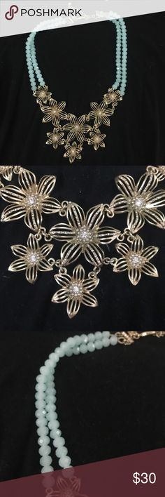 Beautiful Anthropologie Necklace Worn once- like new! Beautiful- Gilded Gerbera Bib Necklace Anthropologie Jewelry Necklaces