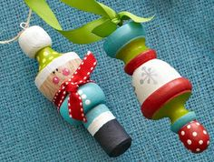 Painted Finial Ornaments