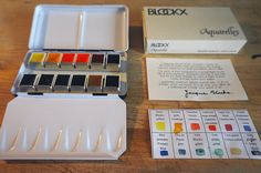 Blockx watercolours | I thought I'd treat myself to a new wa… | Flickr