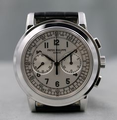 PATEK PHILIPPE 5070G CHRONOGRAPH SILVER  DIAL BOX & PAPERS CERT 2006 UNPOLISHED! #PatekPhilippe