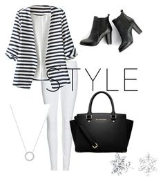 """""""Untitled #28"""" by bianca-diana-popovici ❤ liked on Polyvore featuring Burberry, WithChic, SWEET MANGO, MICHAEL Michael Kors, Michael Kors and Bling Jewelry"""